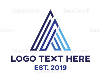 Engineering - Triangle Blue A logo design