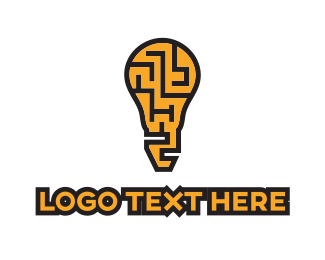 Think - Maze Idea logo design