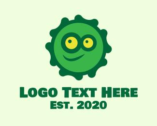 Coronavirus - Green Coronavirus Mascot Smiley logo design