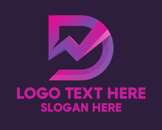 Stock Market - Stock Market Letter D logo design
