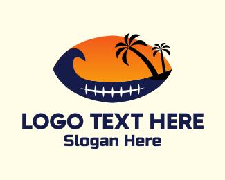 Beach - Island Football logo design