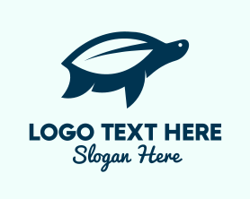 Free - Turtle Leaf Organic logo design