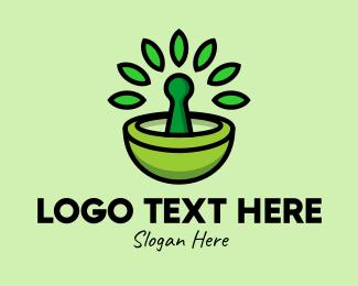 Healer - Herbal Mortar & Pestle  logo design