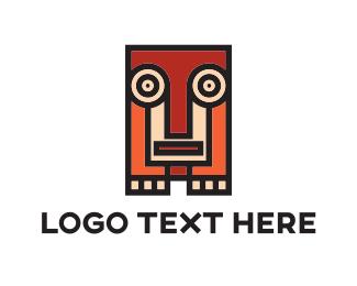 Childish - Squared Animal Totem logo design