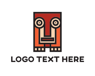 Brown - Squared Animal Totem logo design