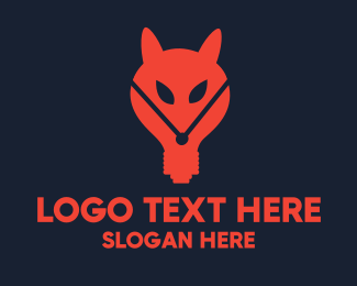 Red Fox - Fox Lamp logo design