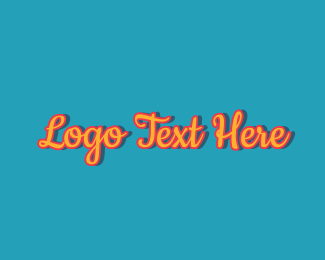 1970s - Fashion Retro Vintage Wordmark logo design
