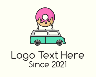 Shipment - Donut Food Truck  logo design