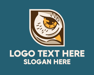 Sleepy - Owl Bird's Eye logo design