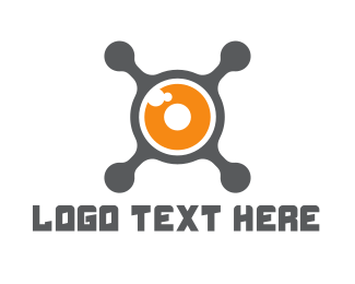 Aerial Photography - Drone Camera logo design