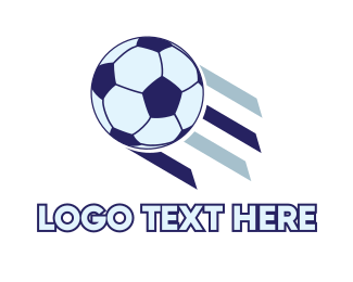 Federation - Flying Soccer Ball logo design