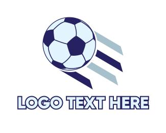Futsal - Flying Soccer Ball logo design