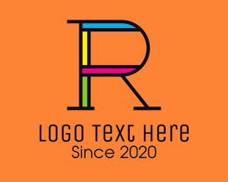 Digital Print - Colorful Letter R logo design