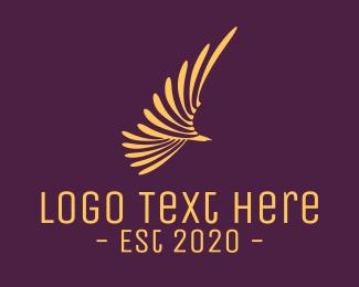 Eagle - Golden Eagle Wings logo design