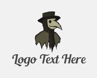 Death - Zombie Scarecrow logo design