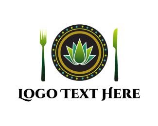 Dish - Vegan Dish logo design