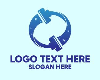 Vacuum - Vacuum Cleaning Service  logo design