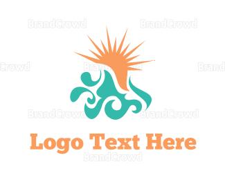 Beachwear - Ocean & Sun logo design