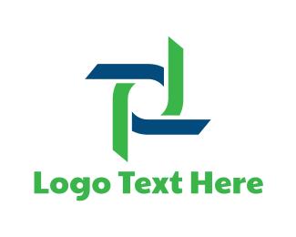 Helix - Ribbon Blades logo design