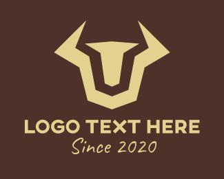 Financial - Modern Financial Bull logo design