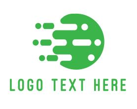 App - Digital Green Circle logo design