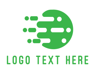 Money Transfer - Digital Green Circle logo design