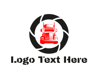 Container - Red Truck  logo design
