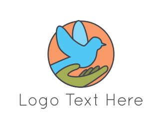 Peace - Blue Pigeon logo design