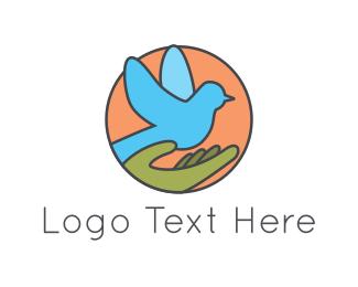 Peace - Blue Pigeon logo design
