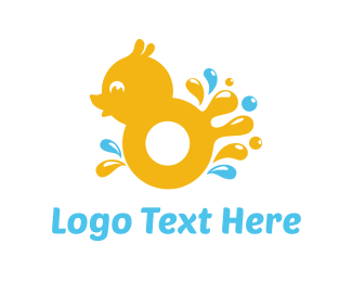Yellow Duck - Splash Duck logo design