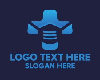 Hygiene - Surgical Mask Medical Health Cross logo design