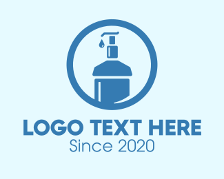Shampoo - Blue Round Liquid Sanitizer logo design
