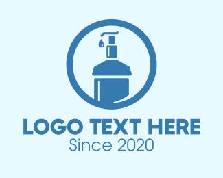 Lotion - Blue Round Liquid Sanitizer logo design