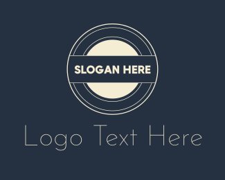 Stamp - Retro Round Monogram logo design