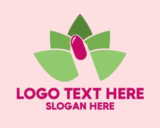 Nail Salon - Lotus Nail Spa logo design