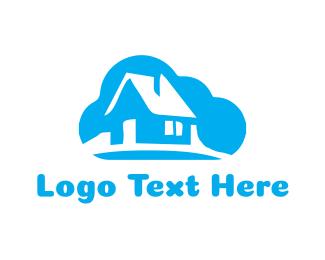 Cabin - Cloud House logo design