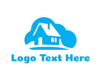 Residence - Cloud House logo design