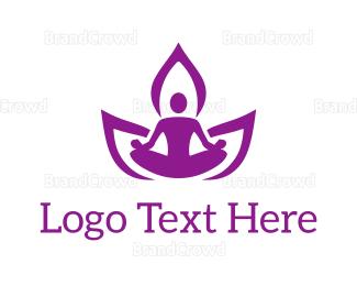Meditation - Meditation Pose logo design