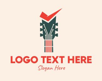Guitar - Guitar Sound Check logo design