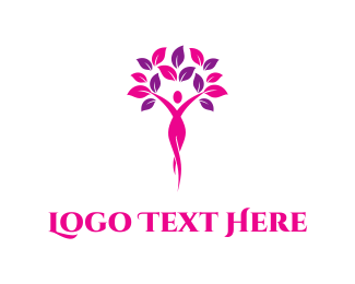 Lady - Feminine Tree logo design
