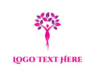 Retreat - Feminine Tree logo design