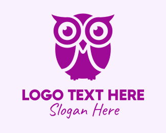 Nerdy - Owl Cartoon logo design