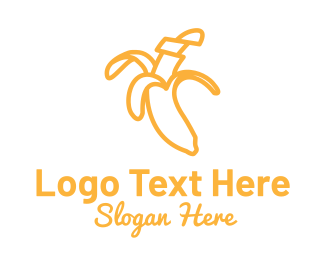 Yellow - Yellow Stroke Banana logo design