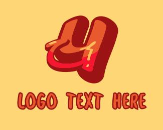 Subway - Subway Graffiti Letter Y logo design