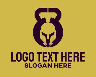 Athenian - Kettlebell Spartan Gym Trainer logo design