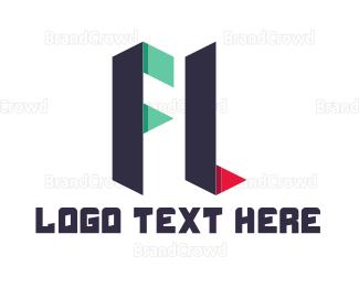 Letter L - F & L logo design