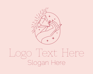 Wedding - Hand Diamond Jewelry  logo design