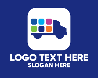 Travelling - Mobile App Truck  logo design