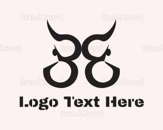 Aggressive - Abstract Bull logo design
