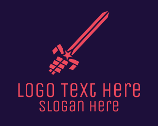 Sword Fight - Patriotic Sword logo design